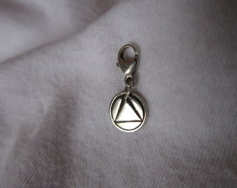 Solid STERLING SILVER or Gold Fill AA Charm