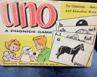 1950's Phonics Uno Game