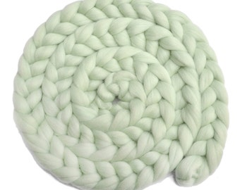 Newborn Photo Prop - Dyed Corriedale wool posing braid for baby photo shoots - Little Sprout - 8 ounces