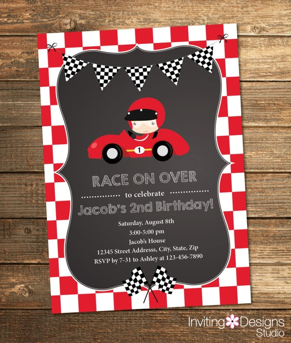 Go Kart Party Invitations was Great Ideas To Create Inspiring Invitation Layout