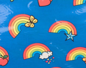 1980s gift wrap // rainbows