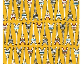 Bright Eiffel Towers From Robert Kaufman's Oui Oui Paris Collection by Suzy Ultman