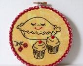 Handmade Pie Embroidery - Hoop Art