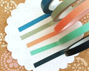 Thin Washi Tapes: Neon Marine