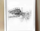 Art Print - Clemson University Stadium - Death Valley - Various Sizes - Go Tigers