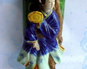 Charming wall pocket Asian lady geisha from Japan