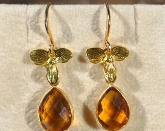 SALE Citrine Earrings - November Birthstone Citrine Jewelry - Birthstone Earrings