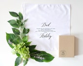 Father of the Bride Printed Handkerchief Keepsake. Printed Handkerchief.  Groom.