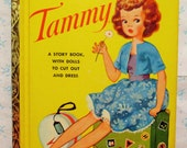 "Tammy, A Litttle Golden Activity Book Paper Dolls, Vintage 1960s First Edition Children's Collectible Book, ""B"" Printing, Rare"