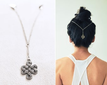 Boho Chic Hair Chain: The Infinity Knot