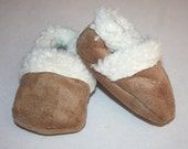 baby shoes, baby moccasins, baby Booties, sherpa/suede, winter baby shoes, warm baby shoes slippers newborn to size 10  toddler