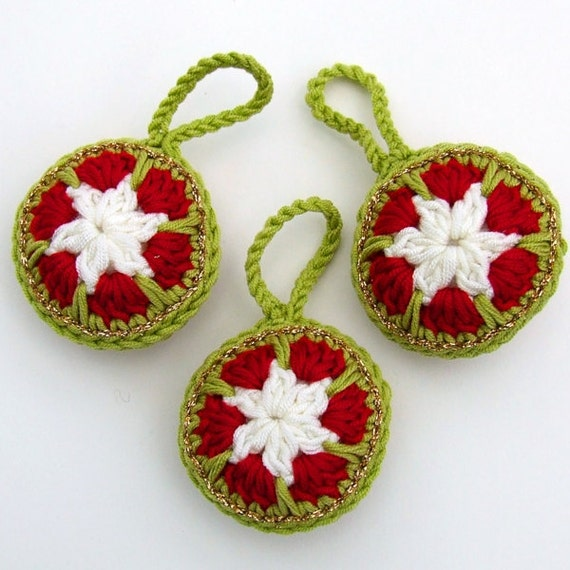 Crochet Pattern Christmas Bauble Decoration - PDF Instant Download