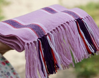 handwoven wrap lilac merino wool scarf for baby  Baby Scarf