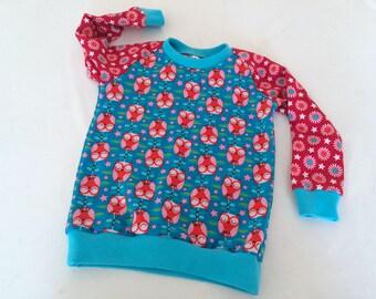 Girls Toddler shirt, Baby girls T-shirt, custom size, Long Sleeve Tee, Owls Hovering Hoots, European Handmade