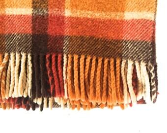 Vintage wool afghan
