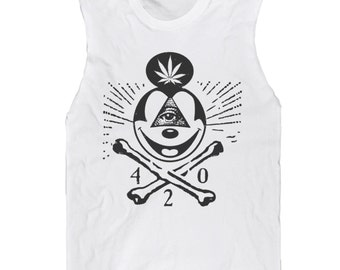 Skull & Mickey Mouse Bones Muscle Tee UNISEX sizes S, M, L, XL