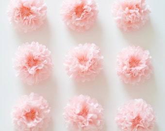 "Supermini 10cm / 4"" tissue PAPER POM POMS - wedding party decorations - place cards - seating plans - party - invitations - decorations"