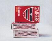 Beehive matches. Giclée print.