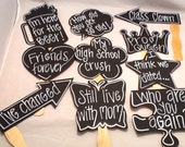 Ten Reunion Chalk Props. Chalk Props Chalkboard Props for Reunion college Reunion High School Reunion
