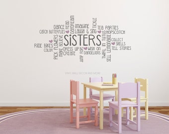 Sisters Wall Decal- Sisters Vinyl Decal