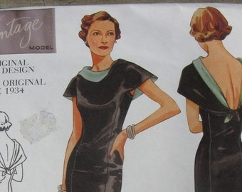 vogue vintage model sewing pattern 2609 size 18-20-22 uncut repro of original 1934 design
