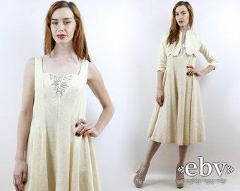 1950s Wedding Dress 50s Wedding Dress 1950s Dress 50s Party Dress 50s Dress 50s Cocktail Dress Vintage 50s Cream Wedding Dress Set S M