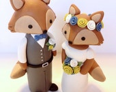 Fox Wedding Cake Topper - Choose Your Colors