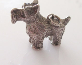 Huge Silver Scottie Dog Charm or Pendant