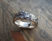Silver Bark Ring - Unique Lost Wax Technique - Engagement - Unisex - Made to order