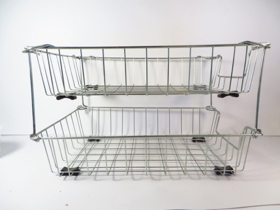 Wire Basket Letter Trays Set Of Two Stackable By Pherdsfinds