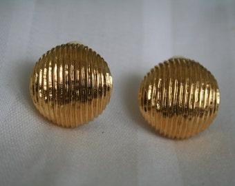 Premier Gold Button Earrings