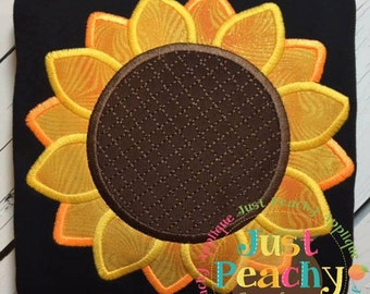 Sunflower Machine Embroidery Applique Design Buy 2 for 4! Use Coupon Code 50OFF