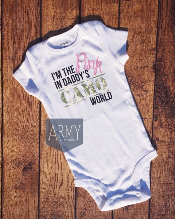 Military Baby Clothing I am the Pink in by ArmyBowtiqueEtsy