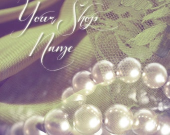 Basic Custom Etsy Shop Banner Set (Pre-made) - Pearls and Lace