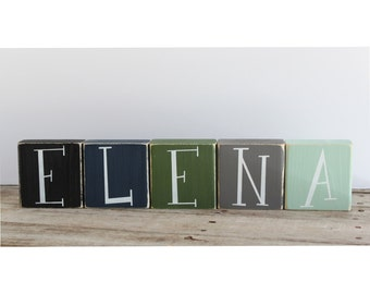 wooden custom name blocks baby name blocks family name blocks alphabet blocks custom wooden block letters wood block letters