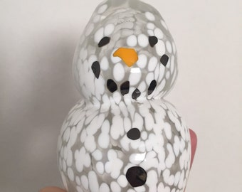 Blown Glass Snowman - Limited Edition - No577 Art Glass by Abiona