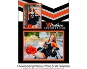 CHEERLEADING MM1 - 8x10 Memory Mate Sports Photo Template - Digital File