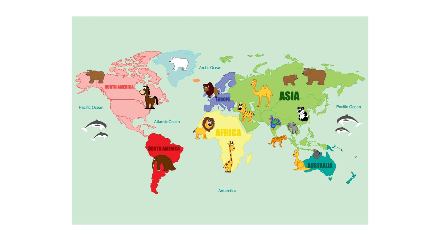 Wall Decals Kids Wall Decals Map Decal World Map Decal