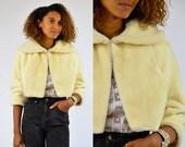50s Faux Fur Crop Coat Jacket Deadstock