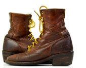 Vintage Packer Boots Santa Fe Boot Co. Roper Boots Womens 7