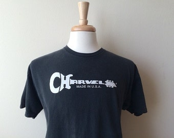 Vintage Charvel Guitar Faded Black Tee