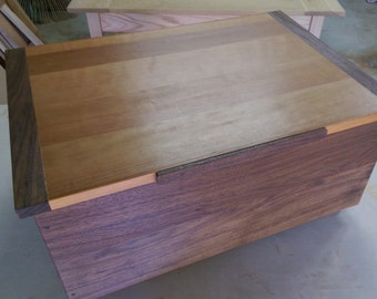 Large Wooden Box from Walnut and Cherry
