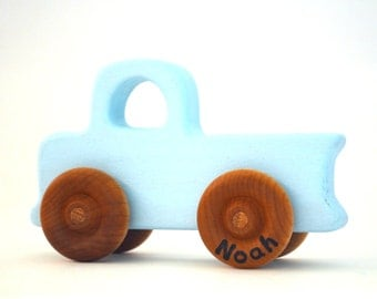 Personalized Toy Pickup Truck - Pick Any Color - Eco Friendly and Waldorf Truck Toy