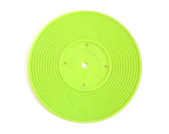Fisher Price Record #1 Jack and Jill, Humpty Dumpty Green Plastic Disc for Record Player Toy