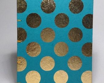 Teal & Gold Polka Dot Journal