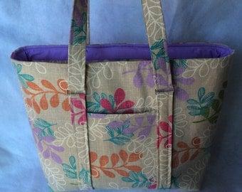 Floral shoulder bag, floral tote