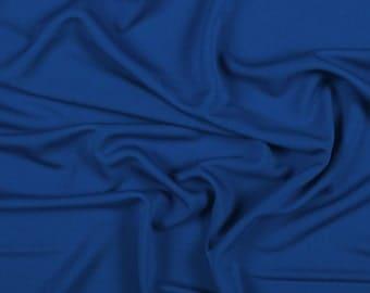 "58"" Wide 100% Rayon Matte Jersey Royal Blue by the yard"