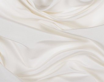"54"" Wide 100% Silk Faille Off White by the yard"