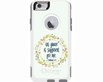 2 Corinthians 12:9 Custom Otterbox Commuter Case for iPhone 6/6s PLUS, iPhone 6/6s, iPhone 5c, iPhone 5/5s, Galaxy S5, Galaxy Note 4