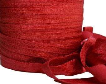 "Dark Red Fold Over Elastic, 5/8"". Dark Red FOE. 5 Yards. SFOE-3020"